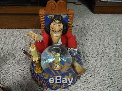 13 Disney Musical Snow Globe Captain Hook Peter Pan Beauty Beast Alice Mermaid