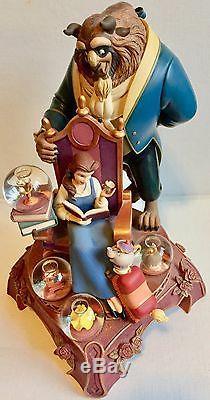 13 RARE Disney BEAUTY & the BEAST 10th Anniversary 4 Mini Snow Globe Figurine