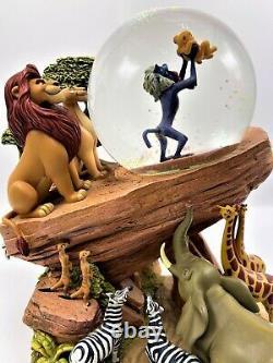 1994 Disney Lion King Pride Rock Circle of Life Musical Animated Snow globe