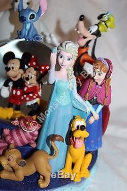 30th Anniversary Disney Store Snowglobe Baymax Goofy Snow White Elsa Anna Stitch