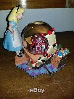 Alice In Wonderland 50th Anniversary Disney Snow Globe Music Box, Beautiful