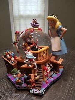 Alice In Wonderland 50th Anniversary Disney Store Snow Globe Musical MINT