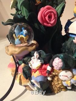 Alice in Wonderland WATER FOUNTAIN Snow Globe, RARE