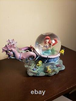 Ariel little mermaid with Seahorses Musical Snow Globe Disney