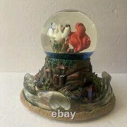 Ariel's Treasure Trove Under The Sea Musical Snow Globe Disney Little Mermaid
