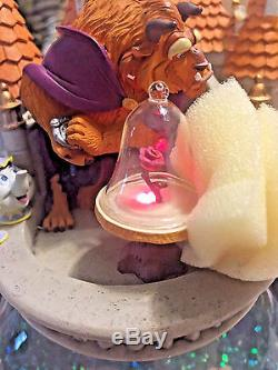 Authentic Disney Beauty and the Beast Village Snowglobe Blower Lights