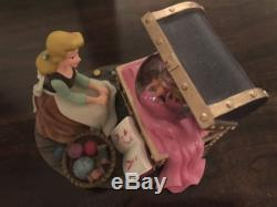 Authentic Disney Parks Cinderella & Mice Sewing Snow Globe