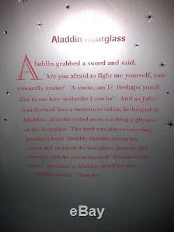 BRAND NEW DISNEY Aladdin Hourglass Snowglobe PRINCESS JASMINE IN ORIG BOX GLOBE