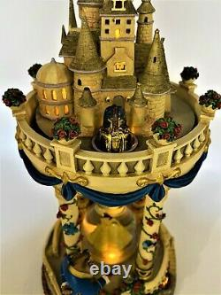 Beauty and the Beast Hourglass Castle Snow Globe Dome Musical Light Up