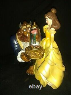 Beauty and the Beast Musical Snow Globe Disney Parks New in box