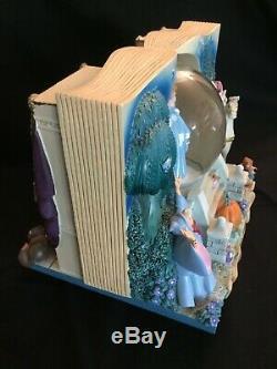 CINDERELLA Vintage Disney Once Upon A Time Storybook Music Box Snow Globe 74-4