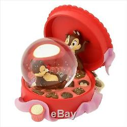 Chip & Dale snow globe Music Box Disney Store Japan 25th Anniversary NEW