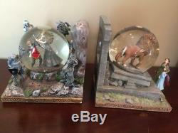 Chronicles of Narnia Snowglobe Globe Bookends Set Disney Discontinued RARE