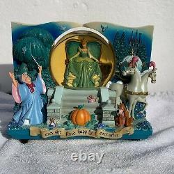 Cinderella Storybook Double Sided Snow Globe From Walt Disney World 1997