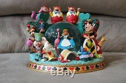 DISNEY Alice in Wonderland Snow Globe Figure RARE