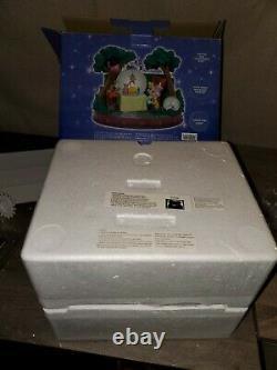 DISNEY Alice in Wonderland Tea Party Snow Globe Music Box Figure