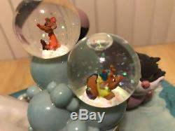 DISNEY CINDERELLA MUSICAL SNOWGLOBE LUCIFER CAT MICE Disneyland Disney World NR