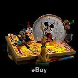 Disney Comic Strip Artists Mickey Mouse Donald Goofy Pluto Snowglobe Collectible