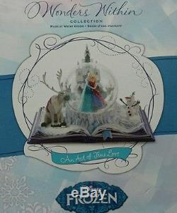 DISNEY FROZEN WONDERS WITHIN AN ACT OF TRUE LOVE MUSICAL SNOW GLOBE new