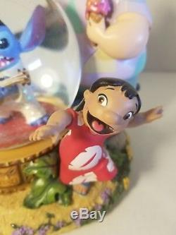 DISNEY LILO AND STITCH Stich as Elvis Music Snow Globe Aloha Oe