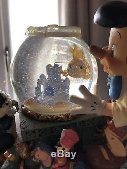 DISNEY PINOCCHIO SNOW GLOBE RARE VINTAGE LARGE Victor Herbert