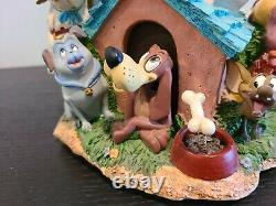 DISNEY'S DOGS Musical Photo Frame Snow Globe lots of dogs, great condition