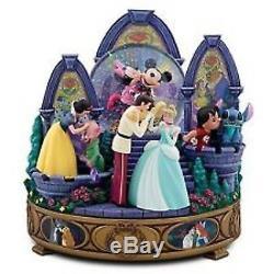 Disney Store Memorable Kisses Snowglobe-nib Lge. Cinderella Prince Lilo Stitch