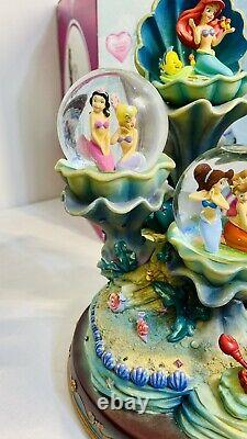 DISNEY STORE THE LITTLE MERMAID ARIEL AND SISTERS SNOW GLOBE With ORIGINAL BOX