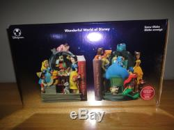 DISNEY THROUGH THE YEARS VOL. 1 & 2 Book Ends Musical SNOWGLOBE with Box
