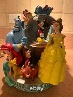 DISNEY Through the Years Volume 1 & 2 Snowglobes Bookends Music Box