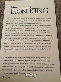Disney Very Rare Lion King 10th Anniversary Snowglobe New In Box