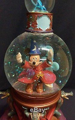 Disney 65th Anniversary Musical Snow Globe Mickey Fantasia Sorcerer Apprentice