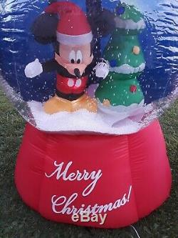 Disney Airblown CHRISTMAS Inflatable Mickey Mouse Snow Globe SUPER RARE WORKS
