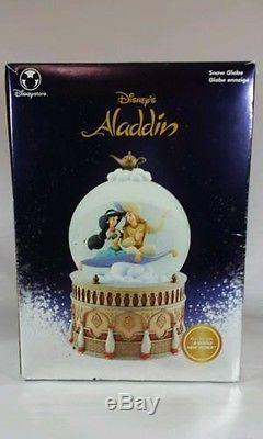 Disney Aladdin And Jasmine Musical Snow Globe A Whole New World Euc