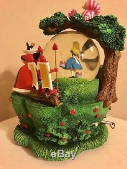 Disney Alice In Wonderland Garden Snowglobe Rare HTF
