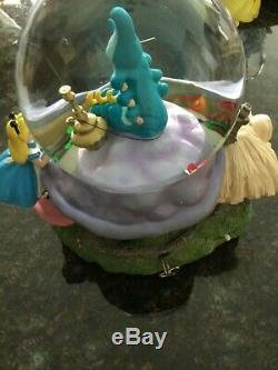 Disney Alice In Wonderland Light Up Musical Snow Globe Rare