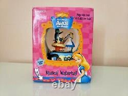 Disney Alice In Wonderland Music Snow Globe Im Late Caterpillar Enesco 5.5