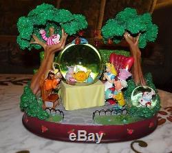 Disney Alice In Wonderland Snow Globe Figure Figurine Statue Tea Party Cheshire