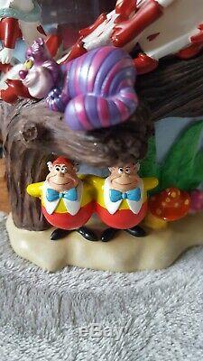 Disney Alice In Wonderland Snow Globe Rare In original box