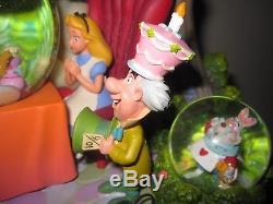 Disney Alice In Wonderland Tea Party Unbirthday Musical Snowglobe Autumn Trees