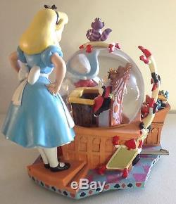 Disney Alice In Wonderland large Musical Snow Globe/Figurine, 50 th Anniversary