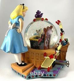 Disney Alice in Wonderland 50th Anniversary Snow Globe Alice's Trial