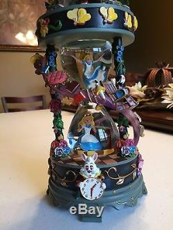 Disney Alice in Wonderland I'm Late Down the Rabbit Hole Hourglass Snowglobe