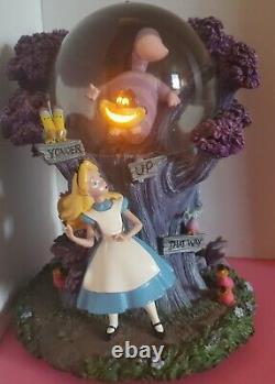 Disney Alice in Wonderland Snow Globe RARE HTF