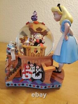 Disney Alice in Wonderland Snow globe Anniversary