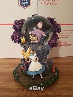 Disney Alice in Wonderland Tulgey Wood snowglobe VERY RARE MINT CONDITION