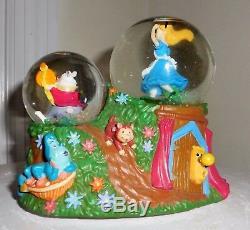 Disney Alice in wonderland white rabbit mini snowglobe