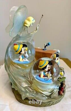 Disney Auctions Exclusive Pinocchio Blue Fairy Multi Snow Globe only 500 made