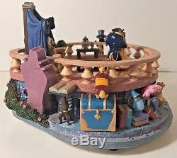 Disney BEAUTY & THE BEAST Music Box Figurine Dancing Balcony Non Snowglobe VIDEO
