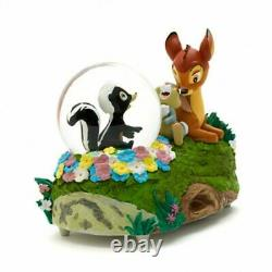 Disney Bambi Thumper and Flower Snow Globe, Disneyland Paris rare N2190